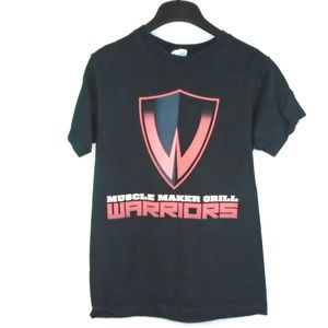 Muscle Maker Grill Warriors Shirt Black Red Small